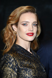 Natalia Vodianova sported soft side-parted waves during Dior's 70 Year of Creation celebration.