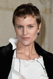 Olympia Scarry looked cute with her pixie at the Dior Couture Spring 2015 show.