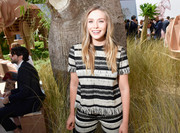 Elizabeth Olsen sported a matchy-matchy Dior fringe top and pants ensemble during the label's Haute Couture show.