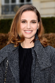 Natalie Portman looked as sweet as ever wearing this curly 'do at the Dior Couture show.
