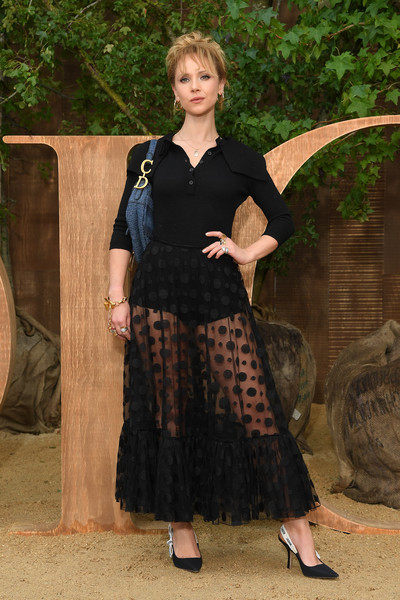 More Pics of Juno Temple Sheer Skirt  (1 of 4) - Dresses & Skirts Lookbook - StyleBistro [clothing,lady,dress,costume,christian dior,juno temple,part,summer 2020,paris,france,christian dior womenswear spring,photocall - paris fashion week,show,paris fashion week]