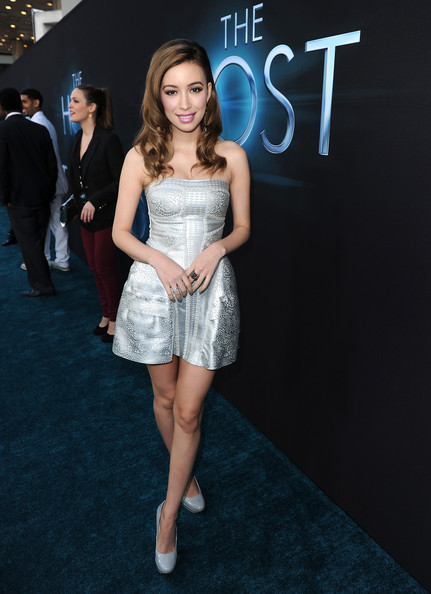 Christian Serratos Strapless Dress