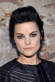 Jaimie Alexander attended the Christian Siriano fashion show looking punky with her fauxhawk.