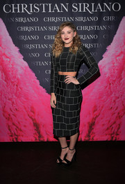 Willow Shields worked a body-con grid-print crop-top by Christian Siriano at the 'Dresses to Dream About' book launch.