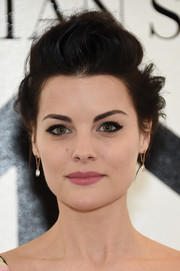 Jaimie Alexander channeled her inner rock star with this messy pompadour at the Christian Siriano fashion show.