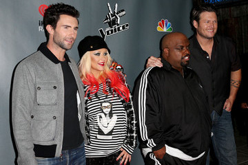 "Christina Aguilera Blake Shelton NBCUniversal's ""The Voice"" Season 3 Red Carpet Event - Arrivals"