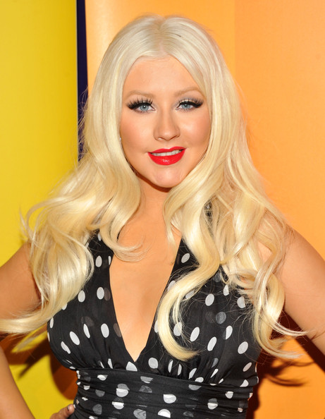 Christina Aguilera Long Curls