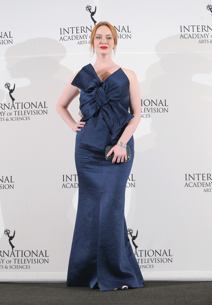 Christina Hendricks Strapless Dress Christina Hendricks