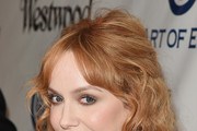 Christina Hendricks Half Up Half Down