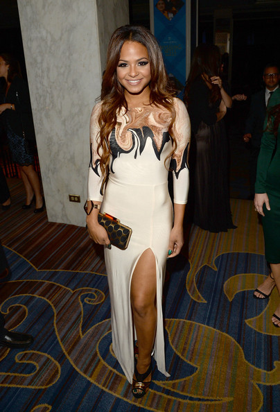 Christina Milian Evening Dress [clothing,dress,fashion,shoulder,long hair,leg,fashion model,thigh,brown hair,event,christina milian,greater los angeles,california,make-a-wish,30th anniversary gala,greater los angeles 30th anniversary gala]