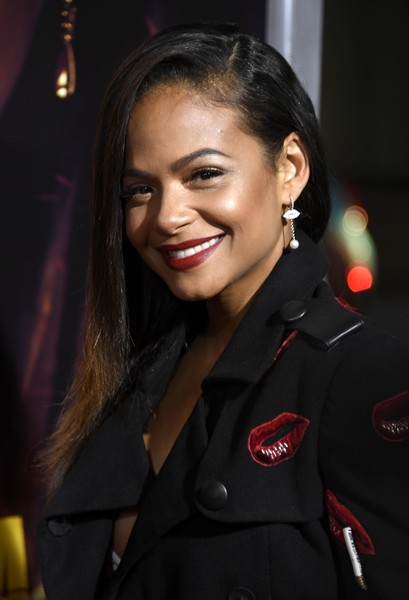Christina Milian Side Sweep [premiere of columbia pictures,miss bala,hair,face,beauty,hairstyle,lip,fashion,smile,uniform,black hair,long hair,christina milian,los angeles,california,regal la live stadium,premiere,columbia pictures miss bala - arrivals]