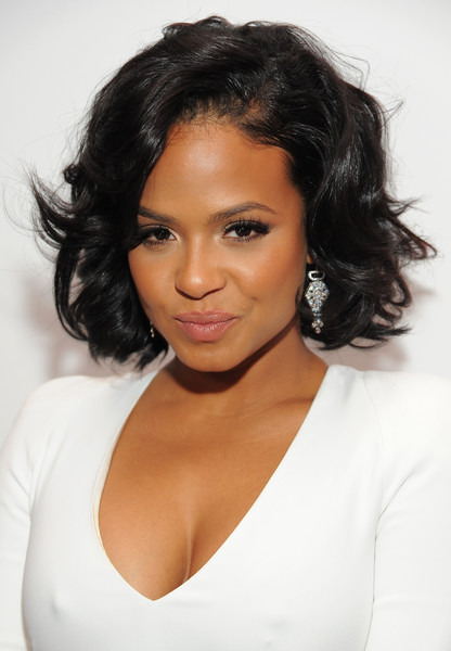 Christina Milian Curled Out Bob [the hollywood reporter,hair,hairstyle,face,eyebrow,black hair,chin,shoulder,beauty,lip,skin,nominees,christina milian,beverly hills,california,spago,hollywood reporter]
