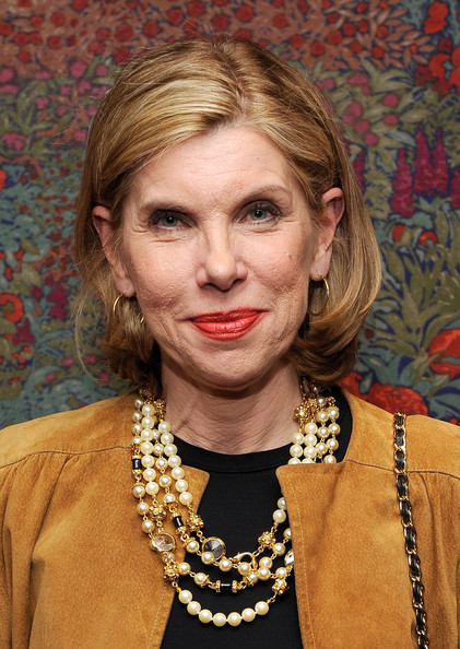 Christine Baranski Bob [all about me,hair,face,blond,hairstyle,lip,fashion accessory,jewellery,necklace,pearl,christine baranski,new york city,brasserie 8,broadway,party,party]