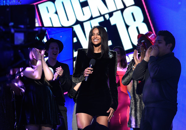 Ciara Shoulder Pad Dress [dick clarks new years rockin eve with ryan seacrest,ciara,performance,entertainment,stage,event,performing arts,fun,singing,music artist,pop music,talent show,california,los angeles]