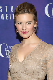 Pink lips topped off Maggie Grace's feminine look at 'Cinderella' on Broadway's opening night.