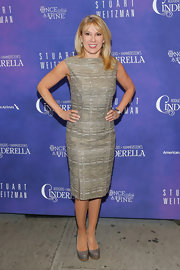 Ramona Singer showed off her fit figure in a gray cocktail dress at the 'Cinderella' opening night.
