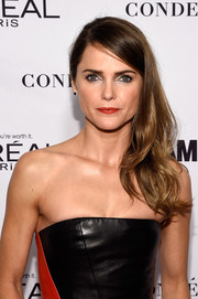 Keri Russell sweetened up her leather look with this wavy side sweep when she attended the Glamour Women of the Year Awards.