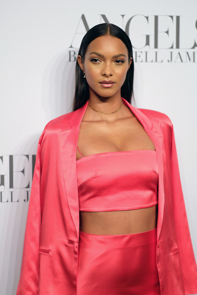 More Pics of Lais Ribeiro Skirt Suit (1 of 7) - Suits Lookbook - StyleBistro [clothing,pink,red,fashion model,hairstyle,fashion,beauty,lip,dress,shoulder,arrivals,cindy crawford,candice swanepoel host angels,russell james,lais ribeiro,angels,stephan weiss studio,russell james book launch and exhibit,exhibit,book launch]