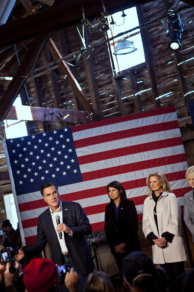Romney Visits Peanut Warehouse On Brief Campaign Swing Through S. Carolina