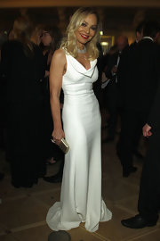 Ornella Muti was rocking some serious old fashioned glamour in this perfect white evening dress.