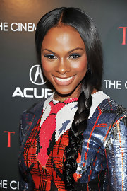 Tika Sumpter looked charming at the 'Thor' screening with her hair in a loose braid.