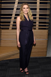 Elizabeth Olsen went for a laid-back yet sophisticated sleeveless pantsuit for the 'Captain America: Civil War' after-party.