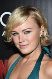 Malin Akerman styled her short locks with a side part and flippy ends for the screening of 'Ant-Man.'