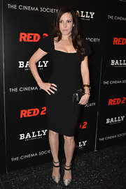 Mary-Louise Parker stuck to a fashion staple when she donned this puffed-sleeve, fitted black dress.