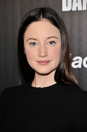 Andrea Riseborough chose a simple and sleek 'do for her look at the screening of 'Shadow Dancer.'