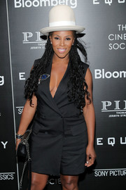 June Ambrose turned heads with her towering bowler hat at the screening of 'Equity.'