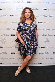 Margarita Levieva rocked a floral-printed silk dress for the NYC screening of 'Girl Most Likely.'