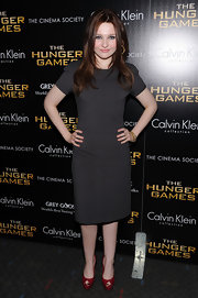 Abigail Breslin looked mature in this boxy LBD at the NY screening of 'The Hunger Games.'