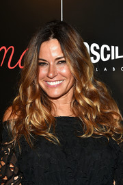 Kelly Bensimon wore her hair loose in a voluminous wavy style during the screening of 'Ma ma.'