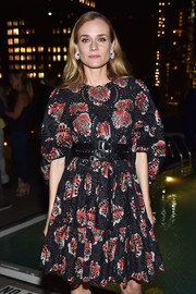 Diane Kruger toughened up her chic dress with a studded black belt by Alexander McQueen for the screening of 'Disorder.'