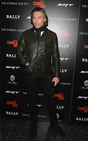 Anson Mount's choice of a form-fitting leather jacket was a winner for it's precise fit and numerous pockets that give off a utilitarian vibe.