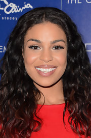 Jordin Sparks accentuated her eyes with fluffy faux lashes.