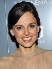 Elena Anaya wore a super shiny, shimmering lip gloss at a screening of 'The Skin I Live In.' She complemented her lip look with a simple updo and minimal eye makeup.