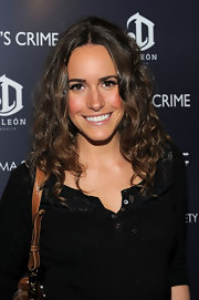 Louise Roe parted her soft curls down the center at the screening of 'Henry's Crime.'
