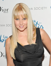 Genevieve Morton wore a sleek straight 'do with choppy bangs at the screening of 'The Adopted.'
