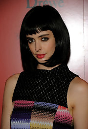 Krysten Ritter showed off her blunt cut bangs and straight locks while hitting the screening of Tamara Drewe.