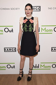Black multi-strap pumps (also by Gucci) finished off Jill Kargman's attire.