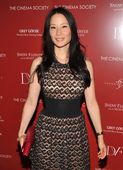 Actress Lucy Liu kept her long dark hair in easy layers at the screening of 'Snow Flower and The Secret Fan.'