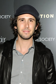 Josh Groban showed off his ivy cap while attending the screening of Conviction.