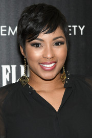 Alicia Quarles was summer-chic with her pixie at the New York screening of 'Guardians of the Galaxy.'