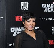 Alicia Quarles attended the 'Guardians of the Galaxy' screening wearing a breezy pixie.