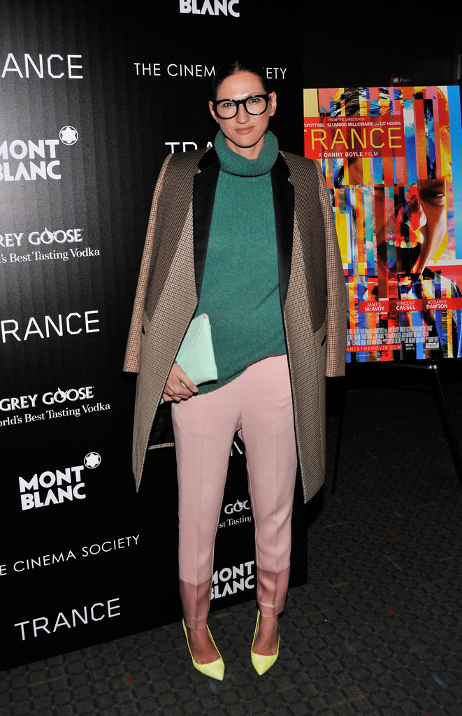 "Jenna Lyons attends the premiere of Fox Searchlight Pictures&squot; ""Trance"" hosted by The Cinema Society & Montblanc at SVA Theater on April 2, 2013 in New York City."