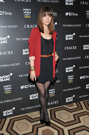 Rose is a doll in polka-dot tights and a sweet LBD at the NY premiere of 'Cracks.'
