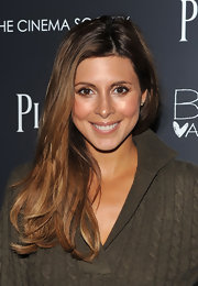 Jaimie-Lynn Sigler showed off her long layered locks which work well for her complexion.