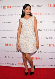 Freida Pinto was a beauty at the 'Trishna' screening in this flared beaded frock.