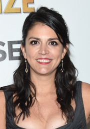 Cecily Strong sported this half-up wavy hairstyle at the screening of 'The Bronze.'